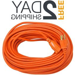 100 Foot Ft 16 Gauge Outdoor Extension Cord for Leaf Blower