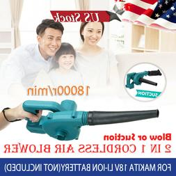 2 in 1 Cordless Leaf Dust Blower Vacuum Tool For Makita 18V