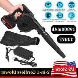 2-in-1 Portable Cordless Leaf Blower Vacuum Dust Cleaner wit