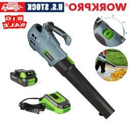 WORKPRO 20V Leaf Blower Jet Fan Handheld Cordless Garden Cle
