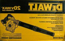 DEWALT 20V MAX Blower for Jobsite, Compact, Tool Only