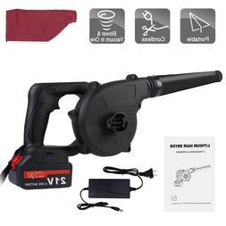 21V Cordless Leaf Blower Brushless Handheld Blower Compact w