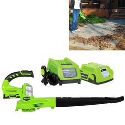 24V Cordless Leaf Blower Sweeper With Lithium Battery Powere