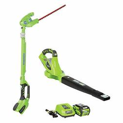 Greenworks 40 Volt Battery Powered Cordless Hedge Trimmer an