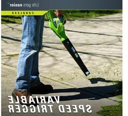 Greenworks 40V 150MPH Variable Speed Leaf Cordless Blower NO