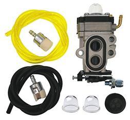Hestish 504116101 Carburetor Carb + Fuel Line Filter for Hus
