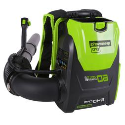 GreenWorks 60-Volt 60V Li-ion 140-MPH Electric Backpack Leaf