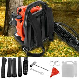 63CC 3.2HP 2Stroke Gas Backpack Leaf Blower Powered Debris P