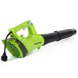 Greenworks 9-Amp 130-MPH Corded Electric Leaf Blower !
