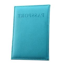 Leather Passport Holder Cover Case RFID Blocking Travel Wall