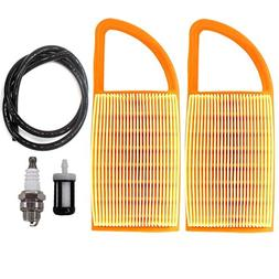 AISEN 2PCS AIR FILTER WITH FUEL LINE FILTER FOR STIHL BR600