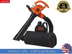 BLACK+DECKER 12-Amp 400-CFM 250-MPH Corded Electric Leaf Blo