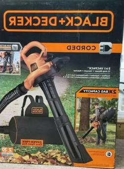 BLACK+DECKER 3in1 VACPACK 12 Amp Leaf Blower Vacuum and Mulc