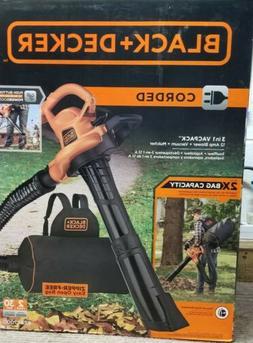 BLACK+DECKER 3in1 VACPACK 12 Amp Leaf Blower Vacuum and Mulc