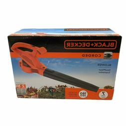 BLACK+DECKER LB700 7-Amp Corded Leaf Blower NEW IN BOX-orang