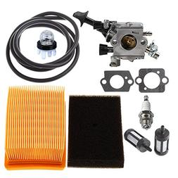 HIPA Carburetor with Air Filter Tune Up Kit for STIHL BR350