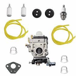 HonsCreat Carburetor + Primer Bulb Fuel Line Filter for RedM