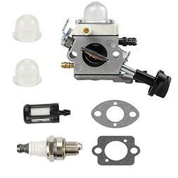 Butom Carburetor with Gasket Fuel Filter Spark Plug for Stih