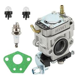 Hilom Carburetor Carb with Primer Bulb Spark Plug For Echo P