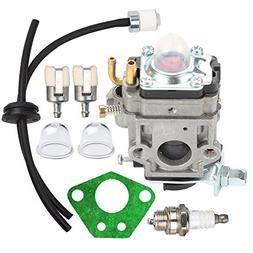 HIPA Carburetor + Primer Bulb Fuel Line Filter for RedMax Re