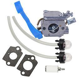 Butom Carburetor with Primer Bulb Fuel Line Kit for Jonsered