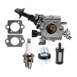 HIPA Carburetor with Primer Bulb Spark Plug for STIHL BR350