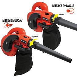 Toolman Corded Electric Leaf Sweeper Vacuum Blower 3.5A for