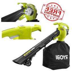 RYOBI Cordless 2-in-1 Leaf Blower 40-V Vacuum Mulcher Variab