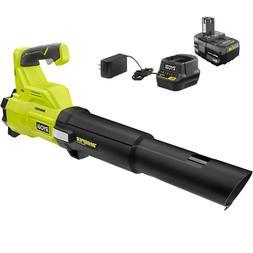 RYOBI Cordless Leaf Blower 410 CPM Adjustable Speed Battery-