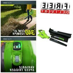 Cordless Leaf Blower Vacuum Mulcher Brushless Motor 6 Speed