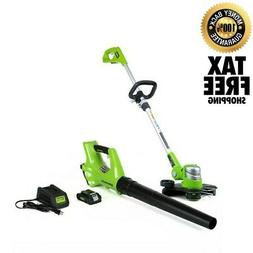 Cordless String Trimmer Edger Weed Wacker And Leaf Blower Wi
