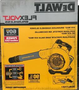 DEWALT DCBL770X1 60V MAX HANDHELD LEAF BLOWER w/ Batt & Chrg