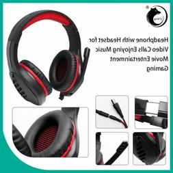 EACH G4000 Gaming Headset Stereo Headphones USB 3.5mm LED wi