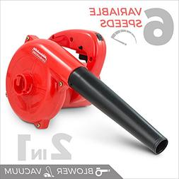 Electric Leaf Blower and Vacuum Cleaner Heavy Duty 600W 16,5