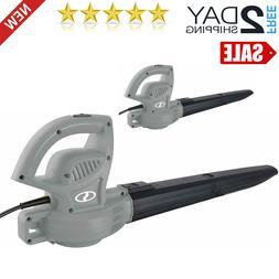 Electric Powerful Handheld Leaf Blower Grey 155 MPH 200 CFM
