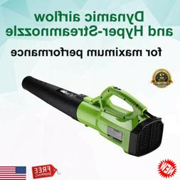 Ergonomic Turbine Powerful Leaf Blower 2-Speed Control 120MP