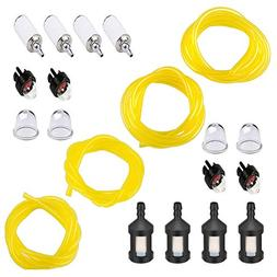 QIUYE 20 Feet Fuel Lines Hose  with Fuel Filter and Primer B