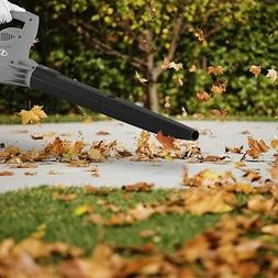Gray Leaf Blower 6 Amp 155 Max Mph Electric Handheld Sweeper