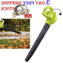 Green Electric Handheld Leaf Blower Lightweight 6 Amp Powerf