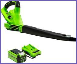 Greenworks 40V 150 MPH Cordless Leaf Blower 2.0Ah Battery &