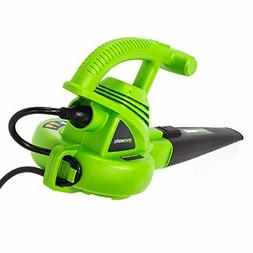 Greenworks 7 Amp Single Speed Electric Leaf Blower, 160 MPH,