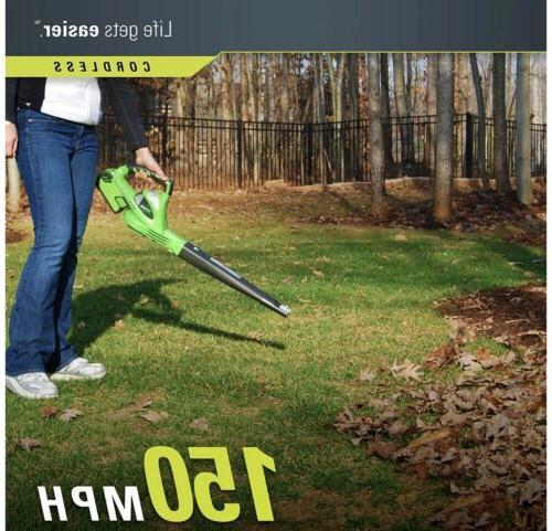 GreenWorks Lithium-Ion Cordless Leaf Blower Tool
