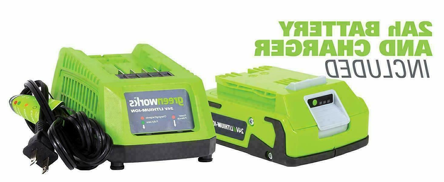 24V Cordless Sweeper Powered Charger