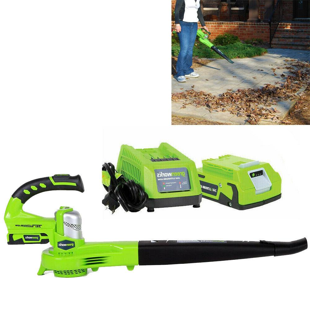 24v cordless leaf blower sweeper with lithium