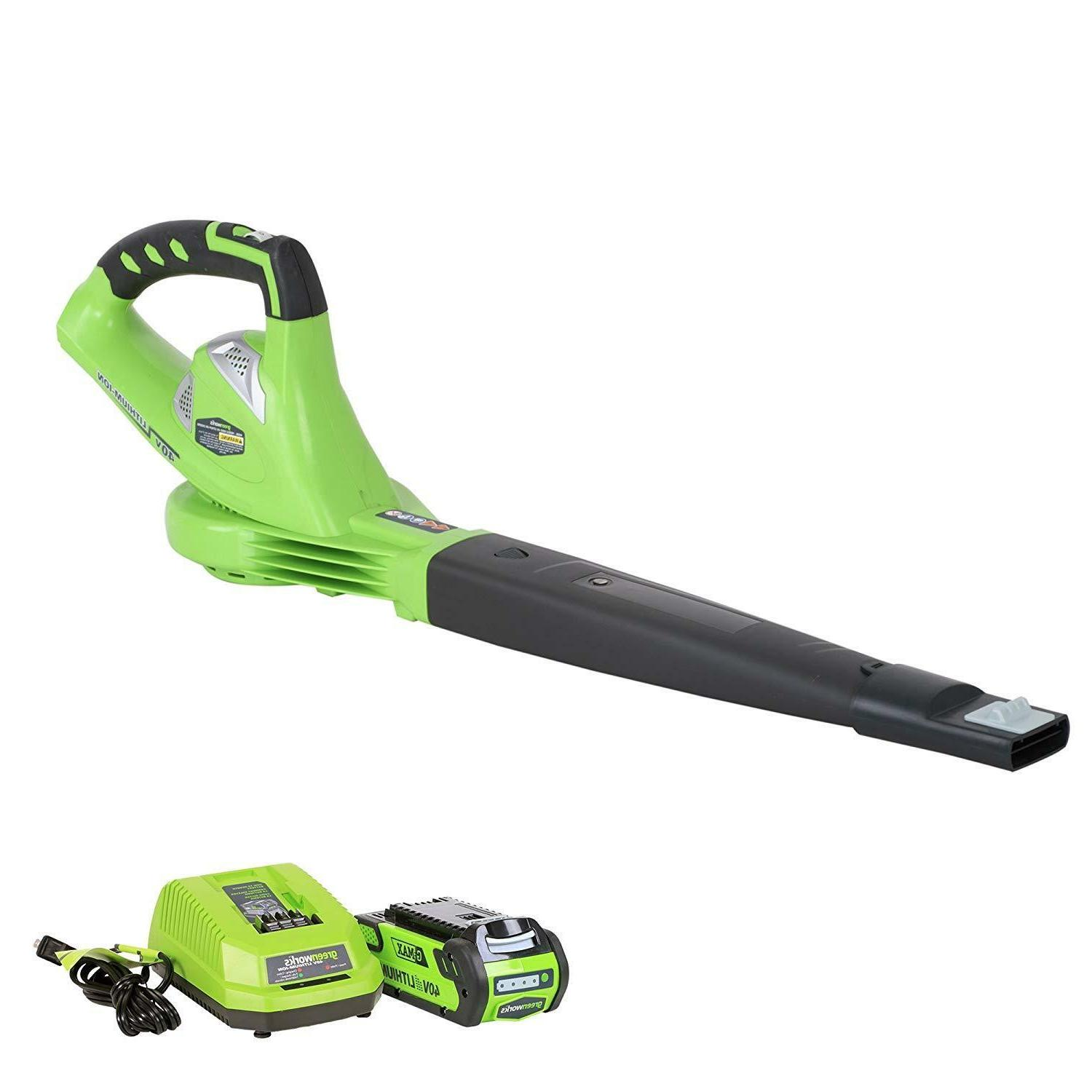 GREENWORKS 40V VARIABLE CORDLESS BLOWER, 2.0 INCLUDED