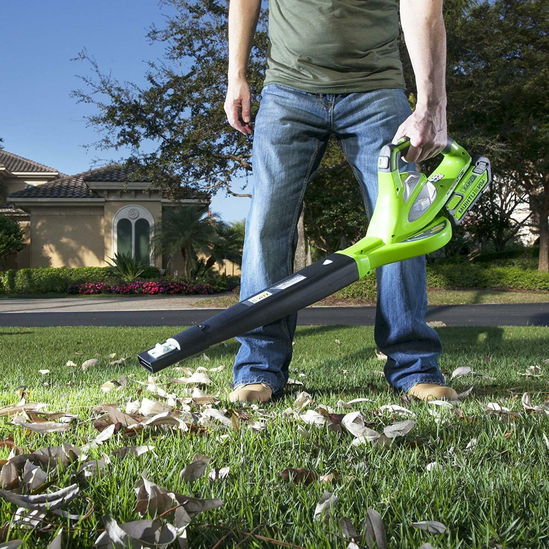 GREENWORKS VARIABLE 2.0 AH INCLUDED