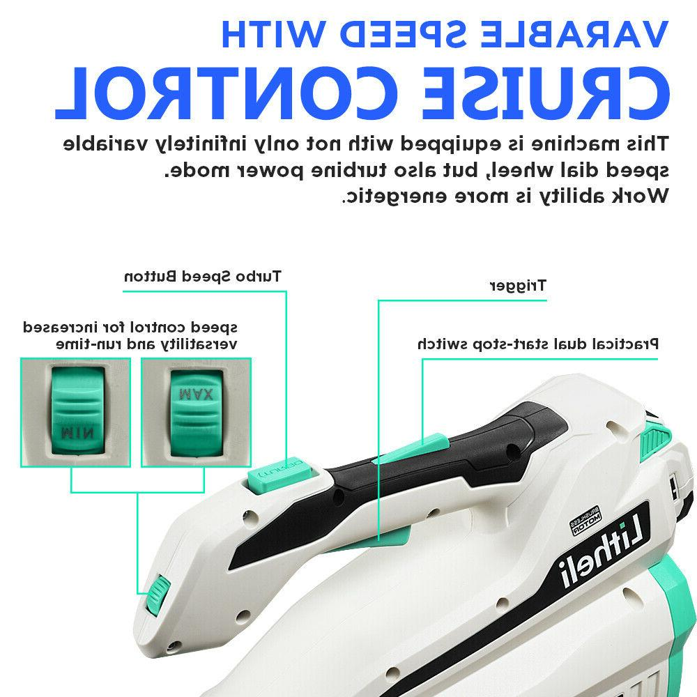 LitheLi 40V Leaf Blower w/ Battery & Charger
