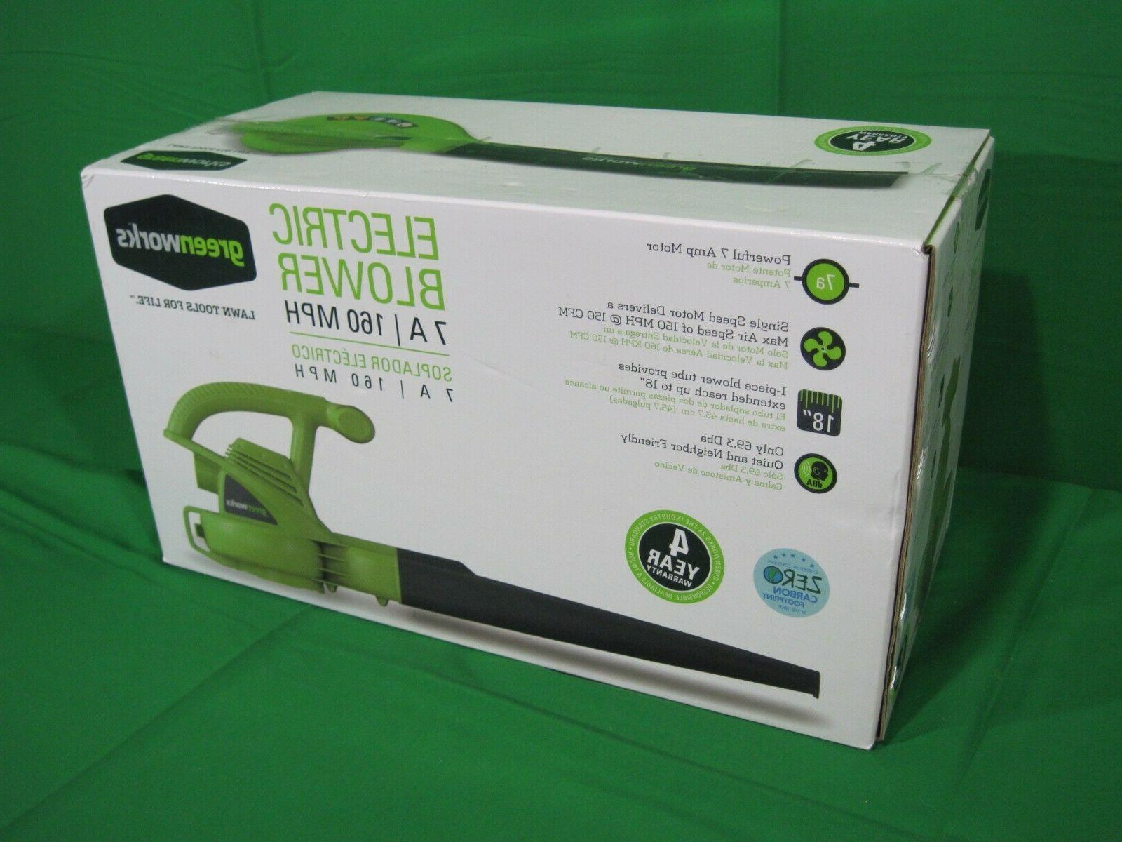 7 amp electric lawn leaf blower single