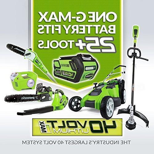 Greenworks 40V - 430 CFM Cordless Brushless Blower, 2.0 AH Battery Included