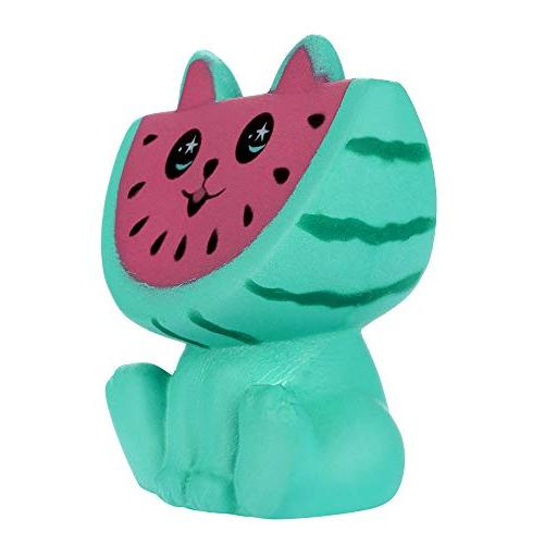 LtrottedJ Adorable Watermelon Kitty Slow Rising Fruit Scented